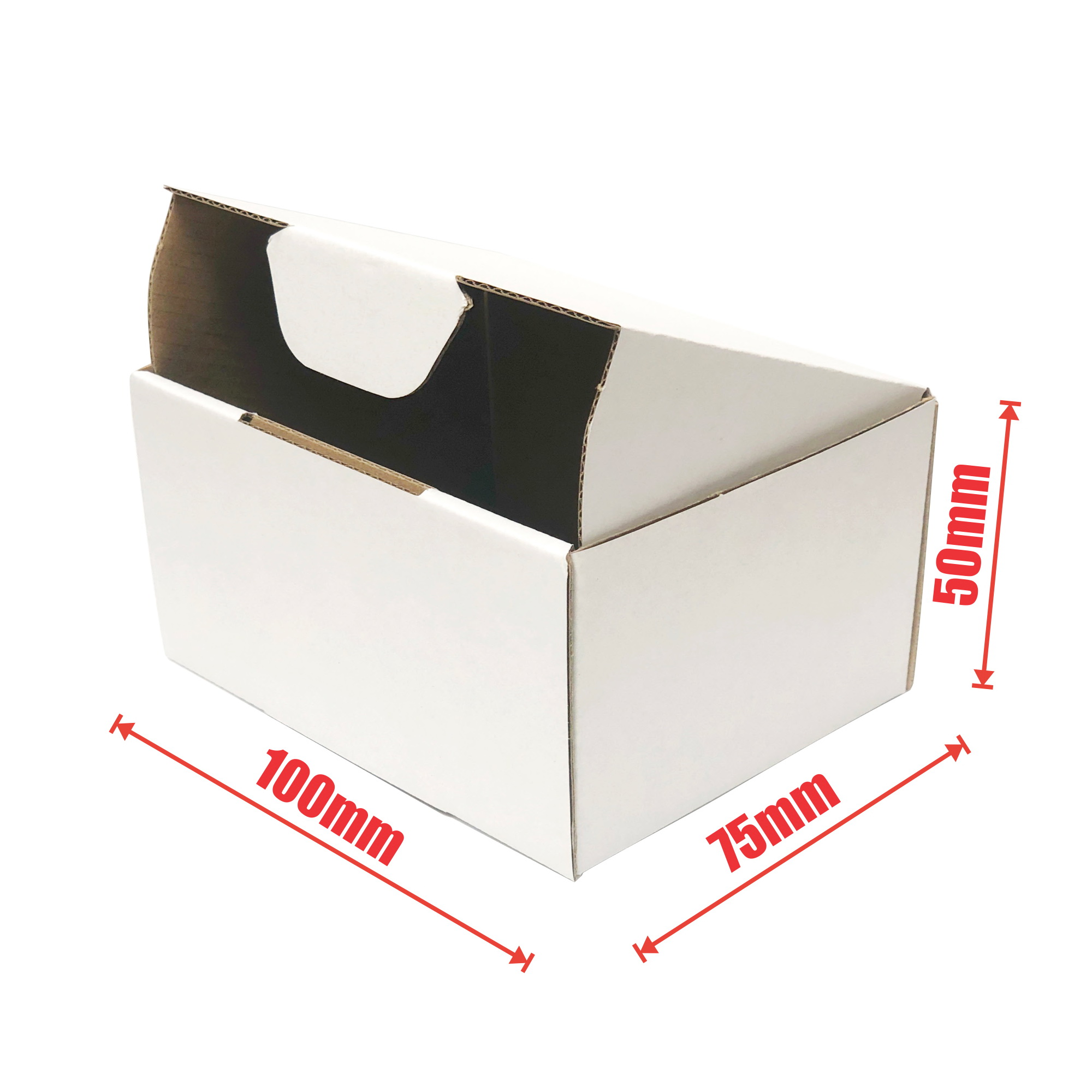 100pcs 100 x 75 x 50mm Diecut Mailing Box
