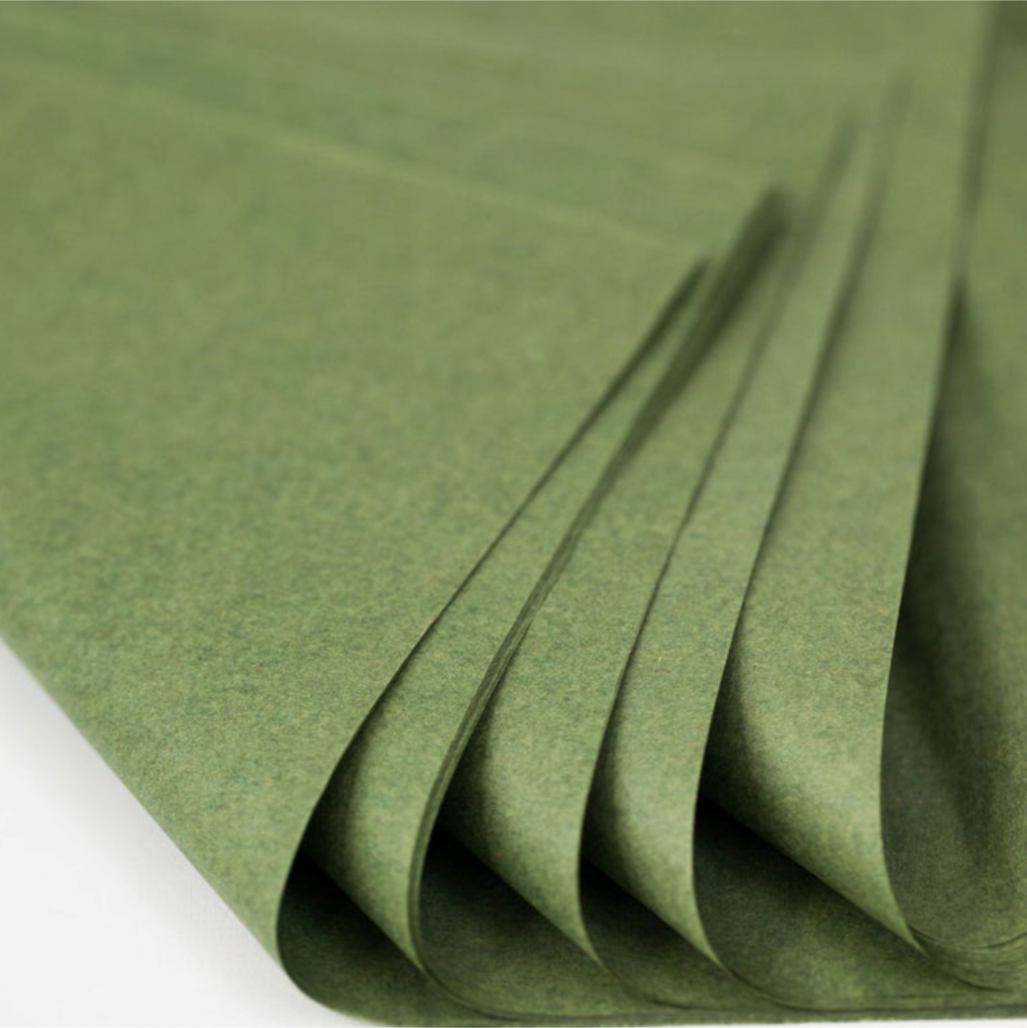 500 Sheets Acid Free Tissue Paper 500x750mm 17gsm Moss