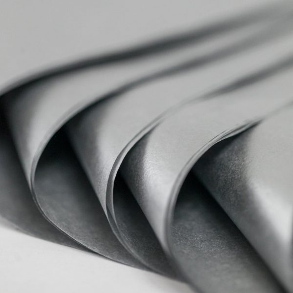 100 Sheets Metallic Silver Acid Free Tissue Paper 500x750mm 18gsm