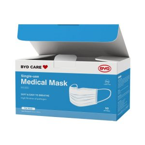 BYD Single-Use Medical Face Mask One Size 50pcs/Box