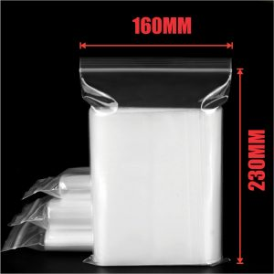 1000pcs 160x230mm Resealable Ziplock Plastic Bags