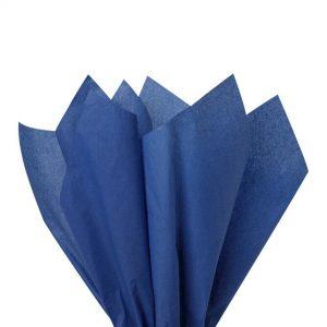 500 Sheets Acid Free Tissue Paper 500x750mm 17gsm Dark Blue