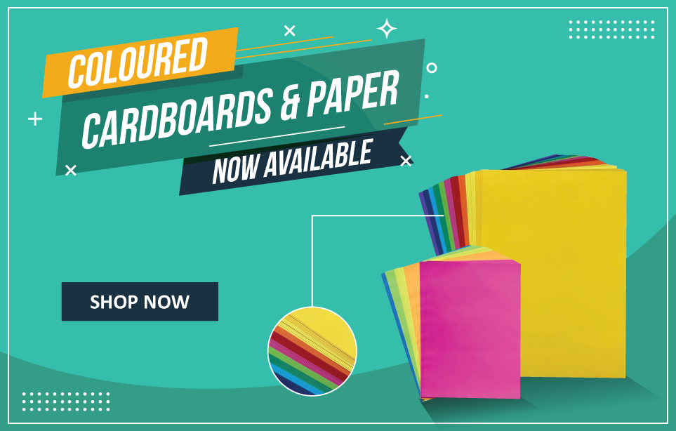 Coloured cardboards and paper