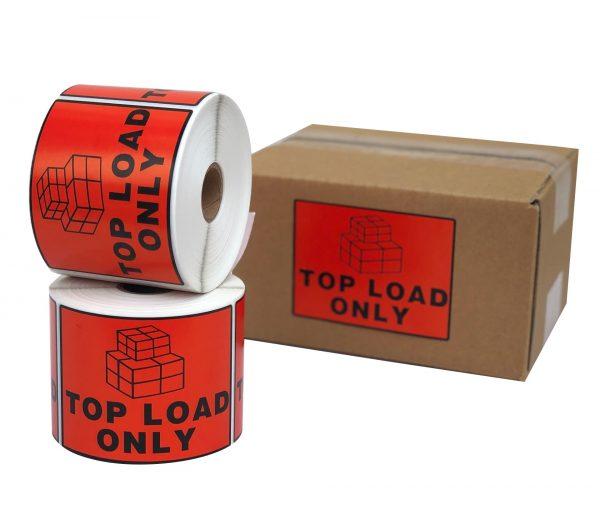 Topload label sticker